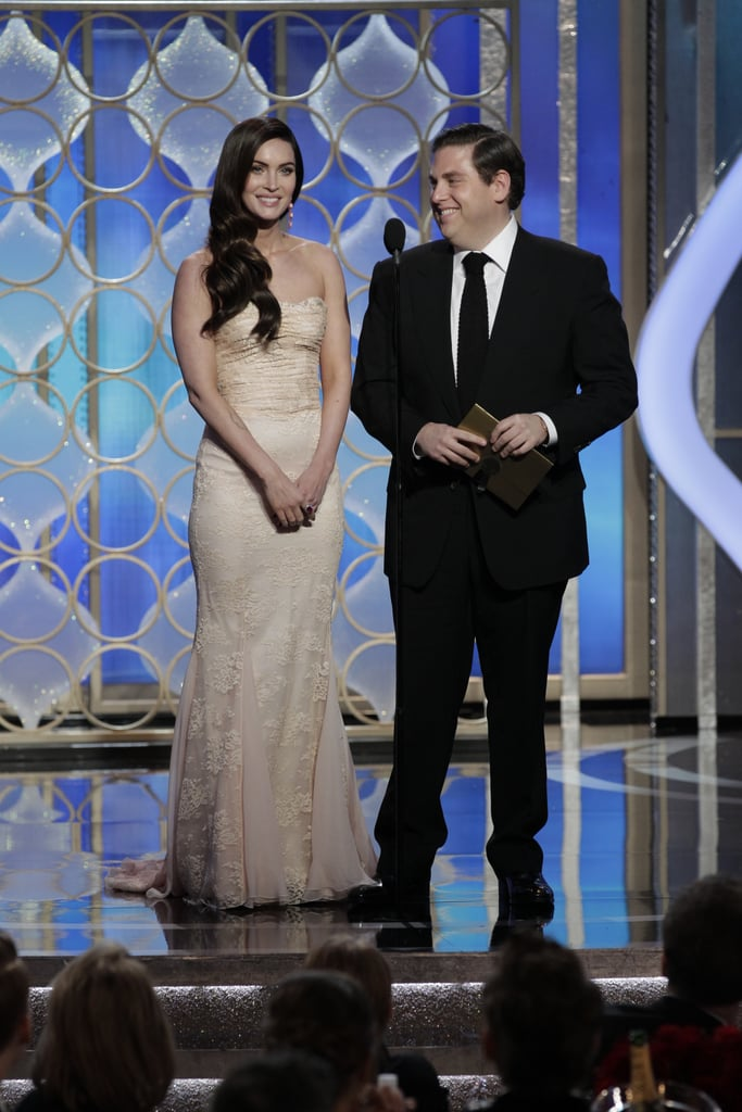Megan Fox and Jonah Hill joked around while presenting.