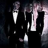 Rico and Lady Gaga are both wearing tuxedos by Mugler. A hint of things to come?