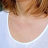 Dainty Gold Lightning Necklace ($35)