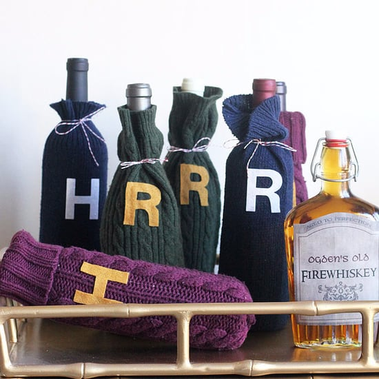 DIY Weasley Sweater Wine Bottle Cozy
