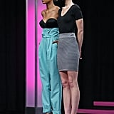 "At the judges' panel, Rocha told Bre she had perfected the ""ugly pretty"" look in their photo.  Photo courtesy of CW"