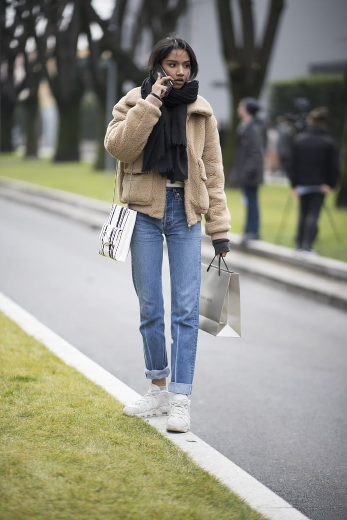 How To Wear High Top Sneakers Popsugar Fashion