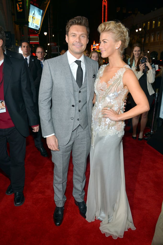 Julianne Hough gave Ryan Seacrest a sweet glance at the February 2013 LA premiere of Safe Haven.