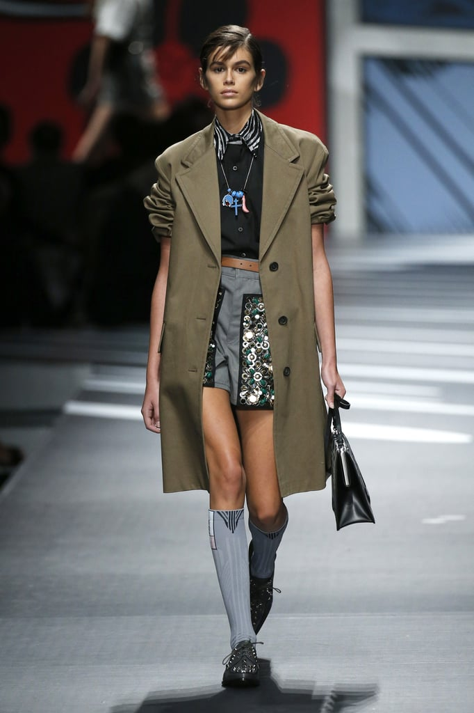 Kaia Also Walked Down the Prada Runway, a Very Iconic Milan Fashion Week Show