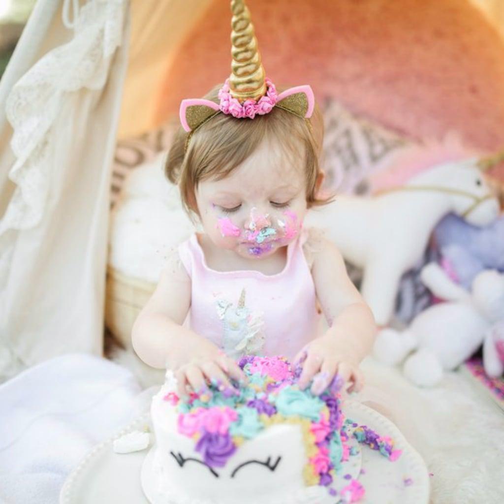 Unicorn-Themed Cake Smash