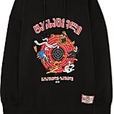 Vetements Cartoon Oversized Embroidered Cotton-Jersey Hoodie
