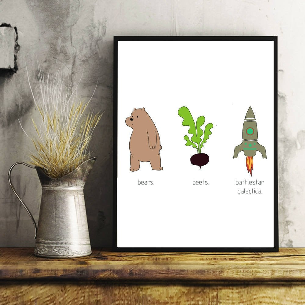 Bears Beets Battlestar Galactica Wall Art