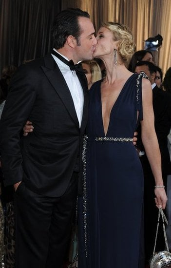 Jean dujardin and alexandra lamy oscar red carpet for Alexandra dujardin