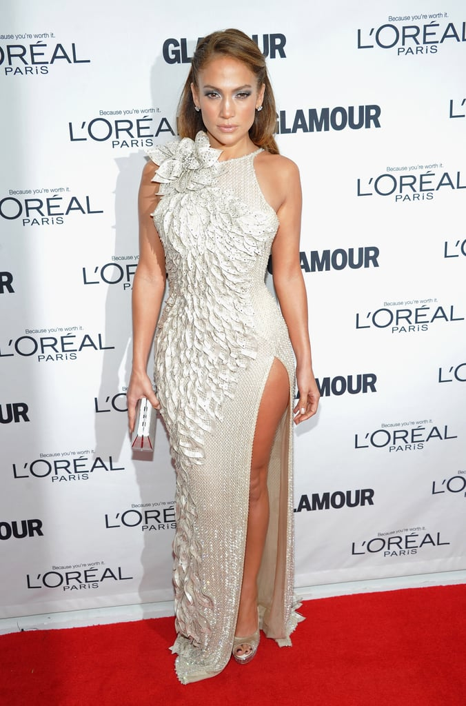 Jennifer Lopez Wearing Donatella Versace to the 2011 Glamour Women of Year Awards