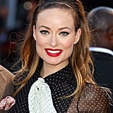 Backcomb all over the crown before adding a tight fabric band about an inch away from the hairline to recreate Olivia Wilde's '60s-inspired hairstyle.