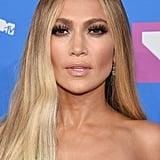 Jennifer Lopez With a Middle Part