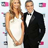 George Clooney was side by side with Stacy Keibler.