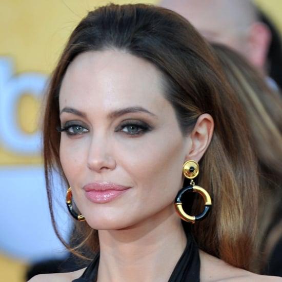 Angelina Jolie's 2012 SAG Awards Hair and Makeup