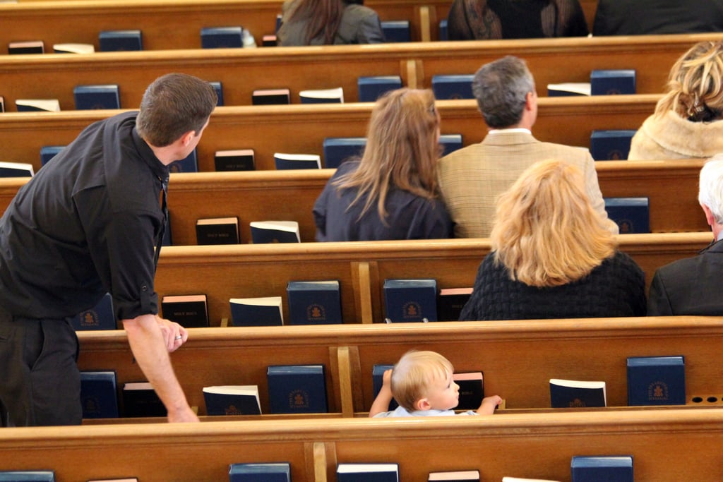 First time you take your tot to church.