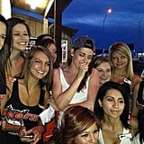 Kristen Stewart posed with waitresses at a Hooters restaurant in Amarillo, TX. Source: Instagram user kristensource