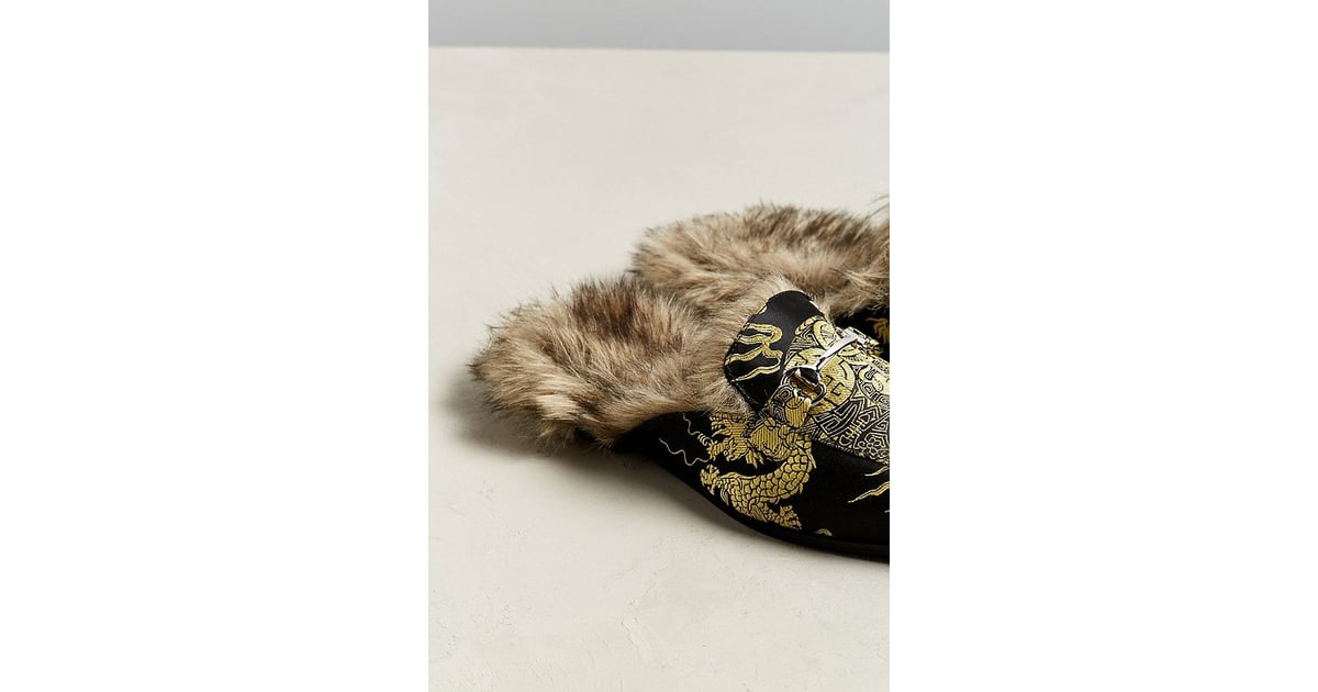 f42c7eebc79 UO Faux Fur Lined Loafer
