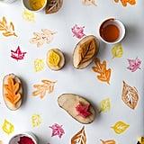 Potato Stamp Leaves