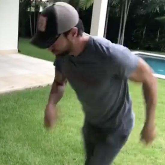 Enrique Iglesias's Instagram Video Entertaining His Twins