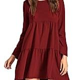 ZJCT Long-Sleeve Loose Dress