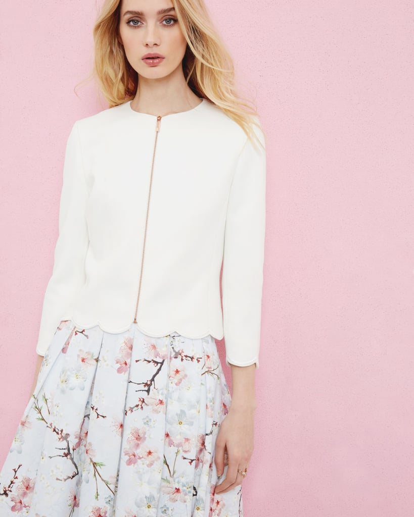 Ted Baker Heraly Scallop Trim Cropped Jacket (£185)