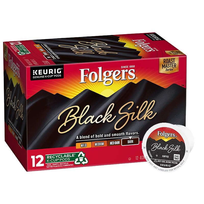Folgers Black Silk K-Cup Pods