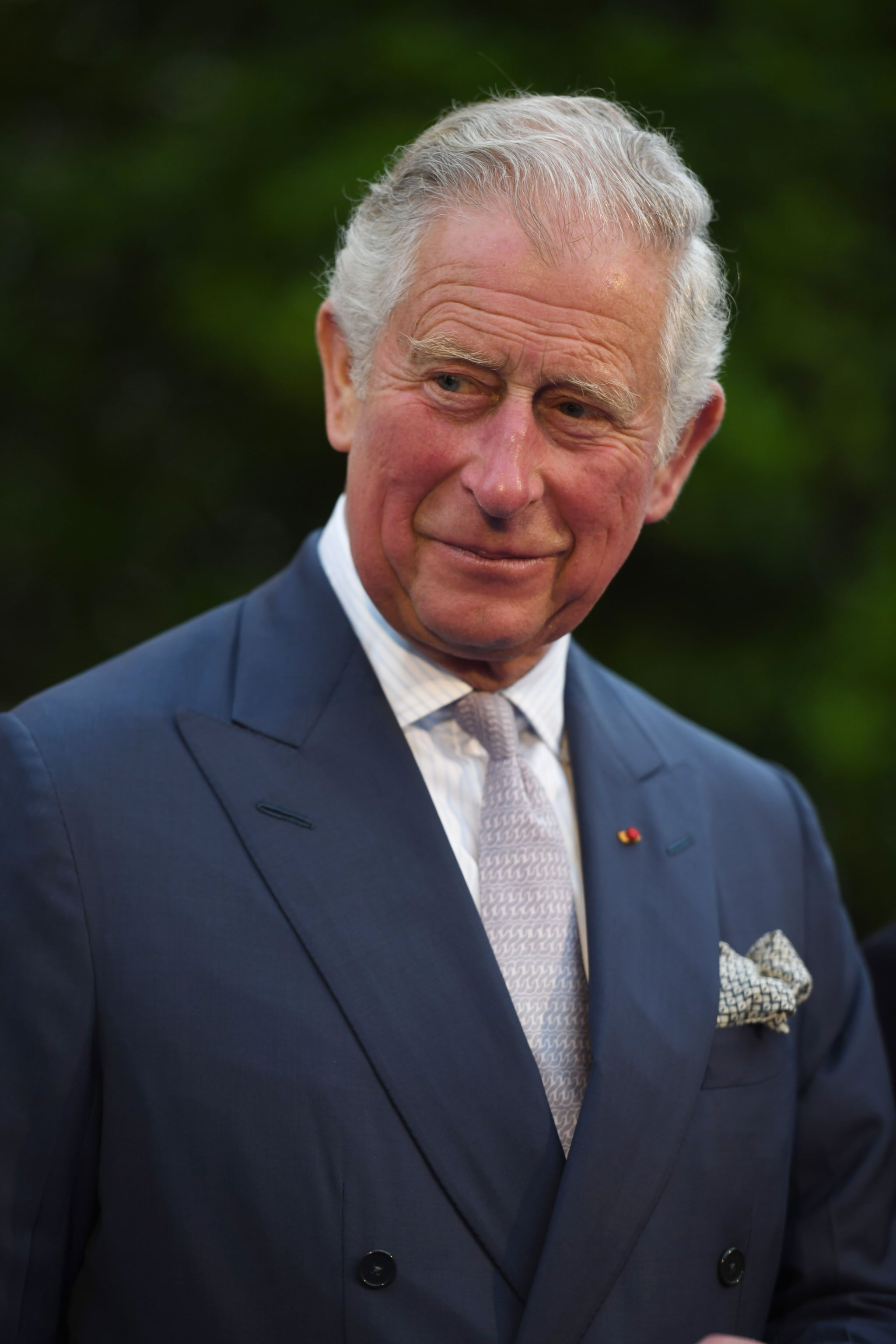 Britains Charles, Prince of Wales, attends a reception in the Villa Massena garden, in Nice, on May 7, 2018. - Britain's Prince Charles, Prince of Wales, and his wife Britain's Camilla on May 7, 2018 paid tribute to the victims 2016 Bastille Day attack in Nice which killed 86 people and injured more than 400. (Photo by JEAN-PIERRE AMET / POOL / AFP)        (Photo credit should read JEAN-PIERRE AMET/AFP/Getty Images)