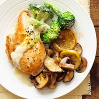 Fast & Easy Dinner: Chicken and Lemon-Broccoli Alfredo