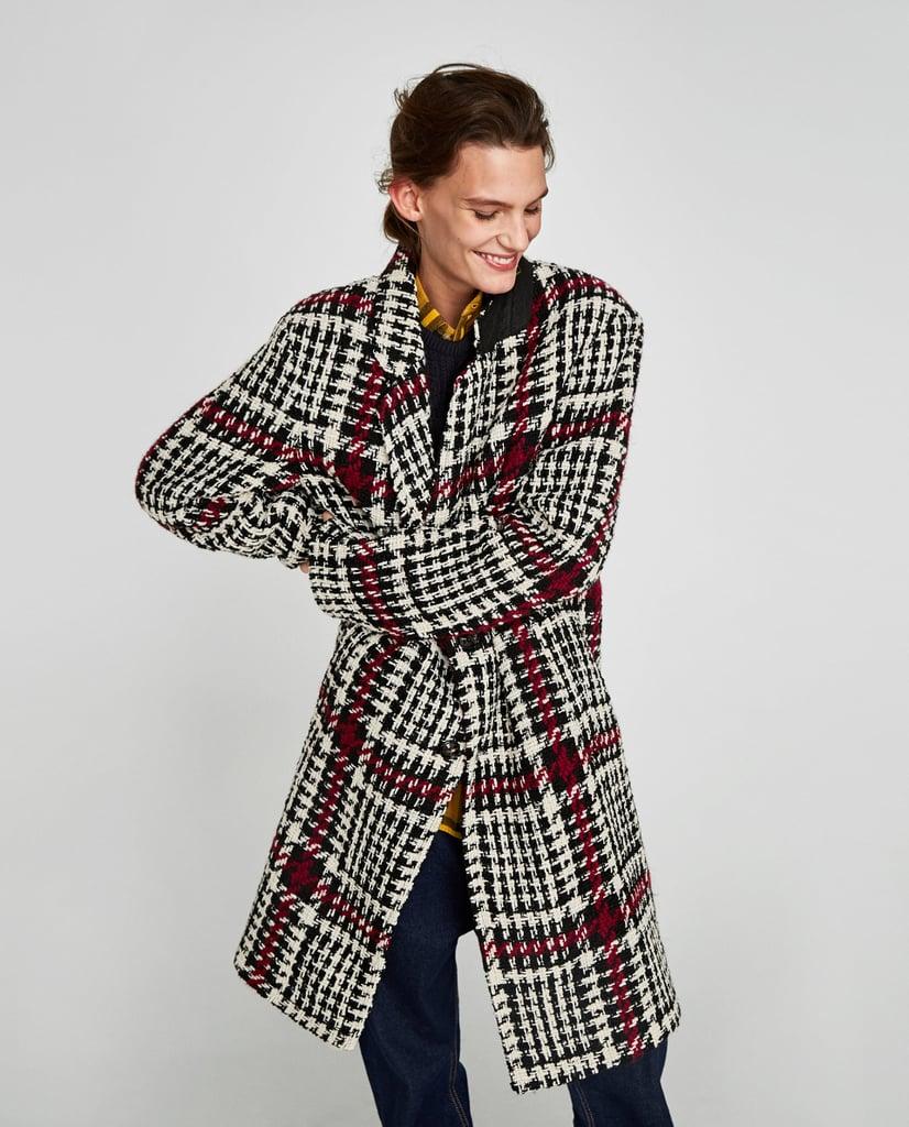 Zara Checked Coat