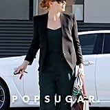 Amy Adams looked ready for business on Wednesday in LA.
