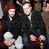Matt Damon and Justin Timberlake attended the Guns N' Roses show.
