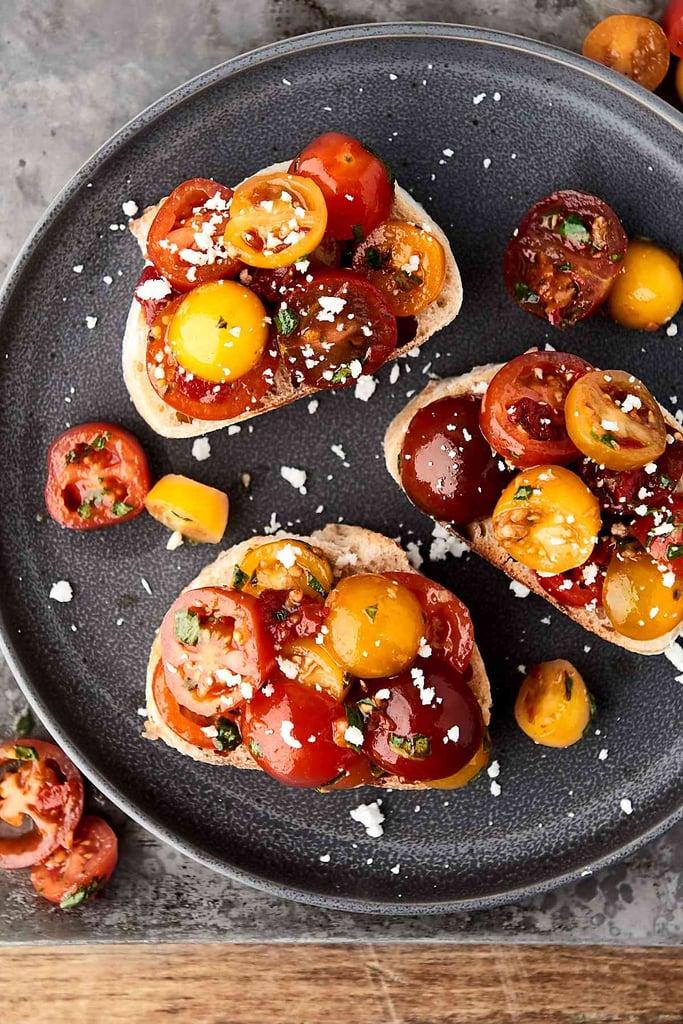 Easy Bruschetta | Mediterranean Diet Breakfast Recipes