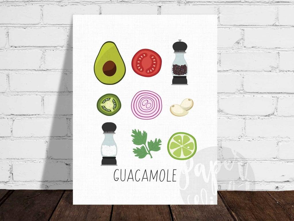 Guacamole Ingredients Illustration