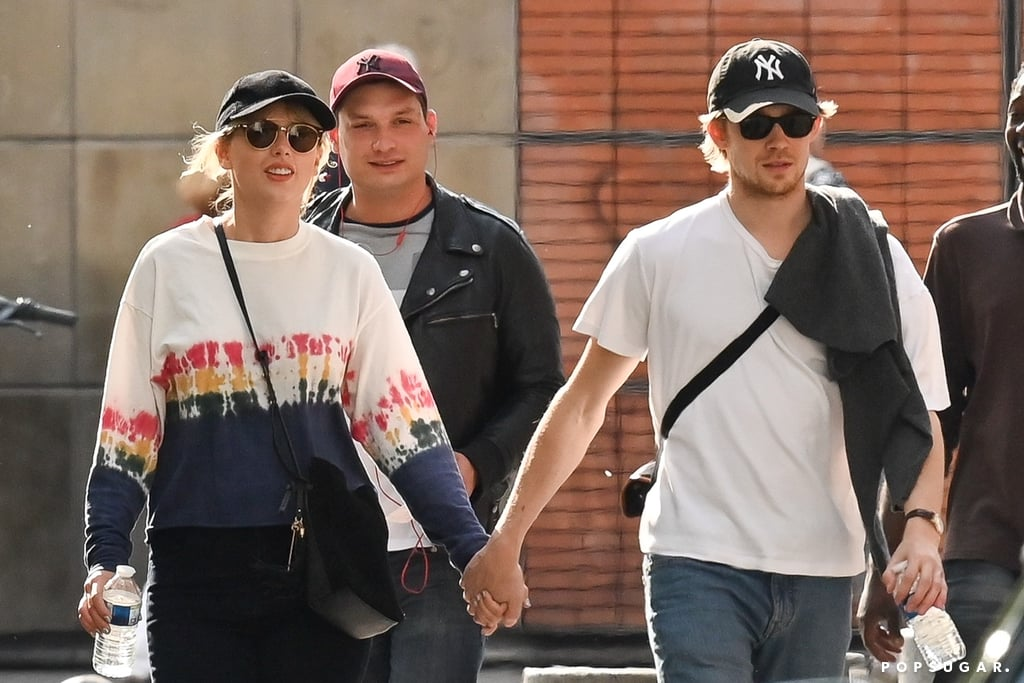 """Taylor Swift, 29, has quite a bit on her plate right now — an upcoming new album, talk show appearances, live performances, and magazine interviews — but she still finds time to spend with her 28-year-old boyfriend Joe Alwyn. On Friday, the couple took a relaxing stroll together in the streets of Paris after grabbing a bite to eat at Café de Flore. They looked cute and casual as Taylor wore a sweatshirt and dark pants while Joe sported a white t-shirt with jeans. The two also matched with baseball caps and sunglasses. Taylor and Joe — who have been dating for about two years — typically keep details of their relationship private. But every now and then we catch a few glimpses of the lovebirds hanging out together. In January, they hit up a few Golden Globe afterparties where they reportedly """"didn't shy away from showing PDA,"""" according to Us Weekly. The following month, they attended BAFTA afterparties in London where they arrived holding hands. Their joint public outings might be rare, but they're always heartwarming!      Related:                                                                                                           The Tiny Glimpses We've Gotten of Taylor Swift and Joe Alwyn's Love Story"""