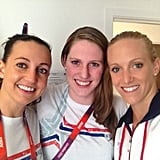 Rebecca Soni, Missy Franklin, and Dana Vollmer