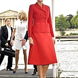 Melania in Dior, July
