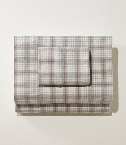 L.L. Bean Heritage Chamois Flannel Sheet Collection in Queen in Plaid