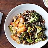 Warm Kimchi Rice Bowl With Roasted Broccoli