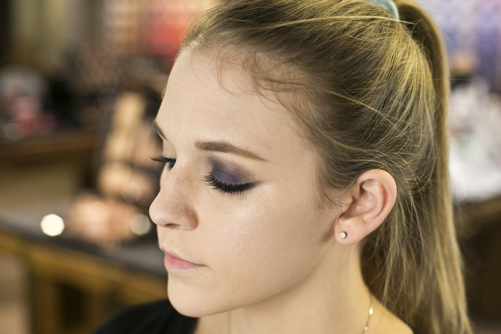 """To create a smoky eye, go over the pencil with a little bit of the eye shadow. """"Keep blending and tapping the eye shadow until you get the desired intensity,"""" he says."""