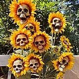 These DIY Sunflower Skulls Practically Scream Halloween