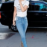 Gigi Hadid's Leopard Print Ankle Boots