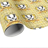 Harry Potter Charming Hufflepuff Crest Wrapping Paper