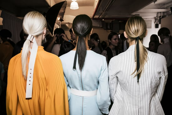 Belted Ponytail How To | Tibi NYFW Spring 2017