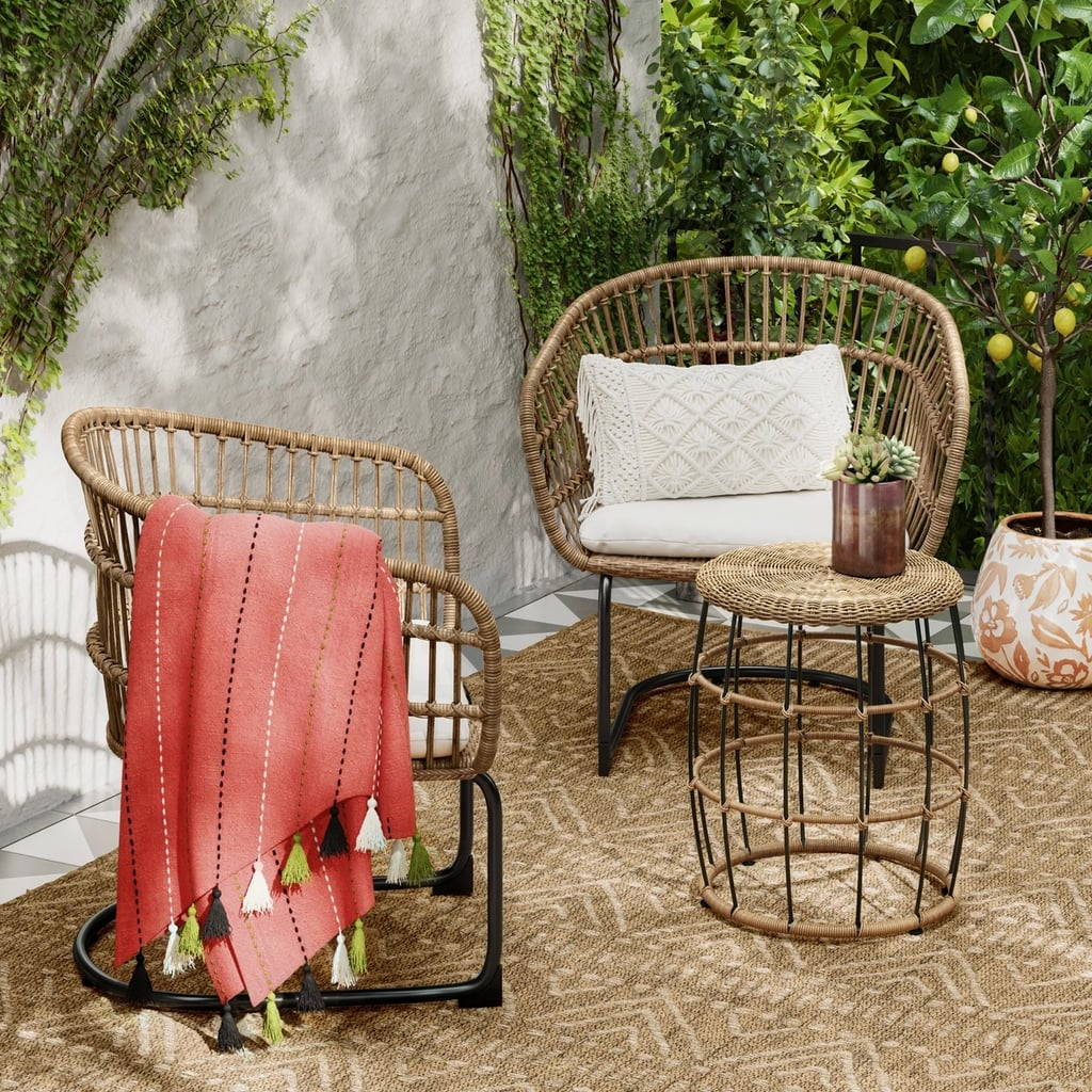 Southport 3-Piece Wicker Motion Patio Chat Set
