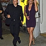 Britney Spears dined at ABC Kitchen in NYC after the Fox Upfronts party.