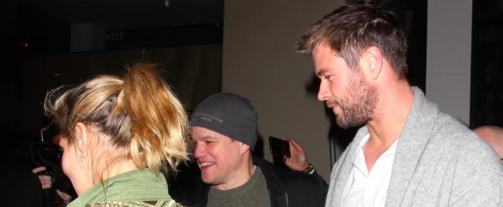 Chris Hemsworth and Matt Damon's Double Date Just Put All of Our Weekend Plans to Shame