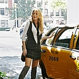 Serena van der Woodsen Wearing a Vest and Tie With a Simple White Shirt