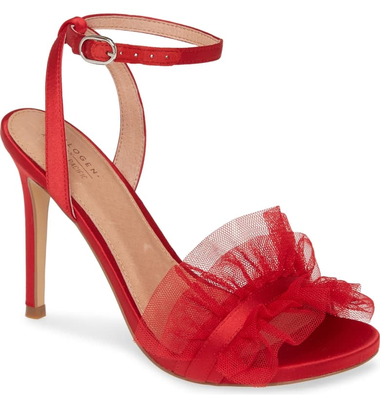 Halogen x Atlantic-Pacific Angelle Ruffle Sandals
