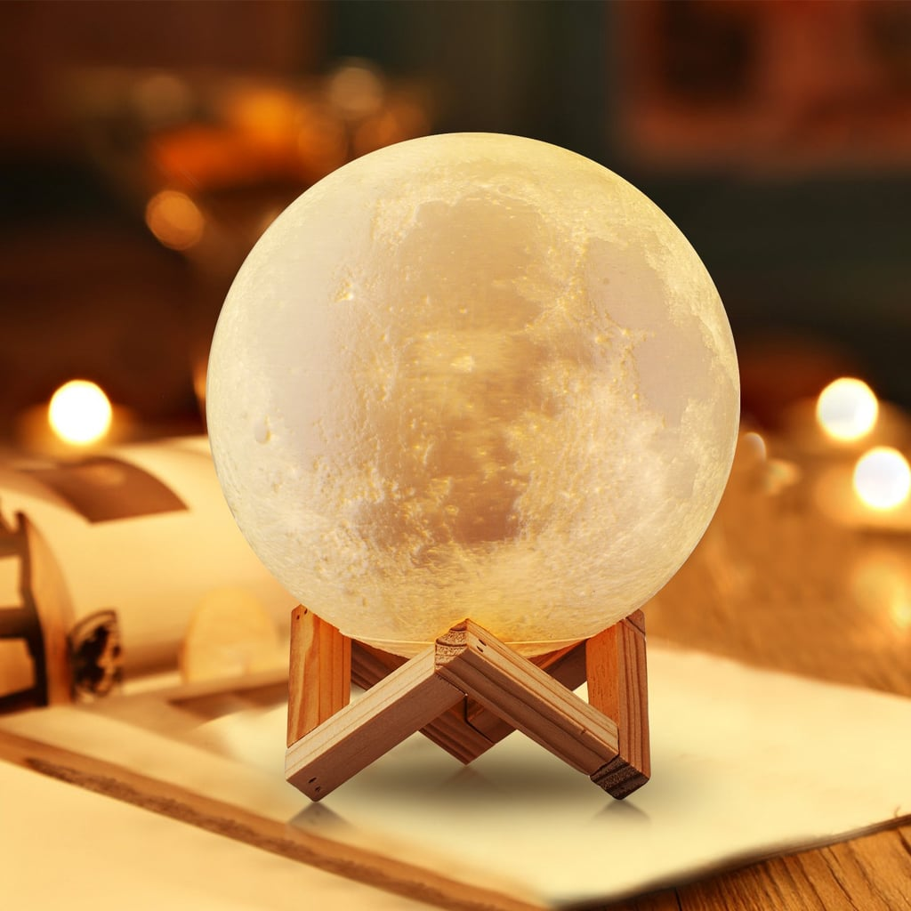Moon Lamp 3D LED Light with Stand