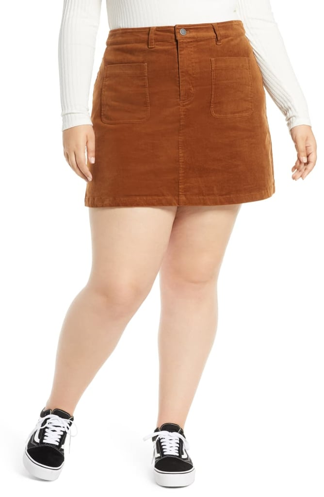 BP. High Waist Corduroy Miniskirt