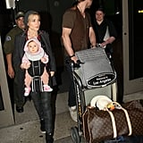 Chris Hemsworth and Baby India Pictures Christmas at LAX